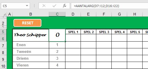 Excel AANTALARG()