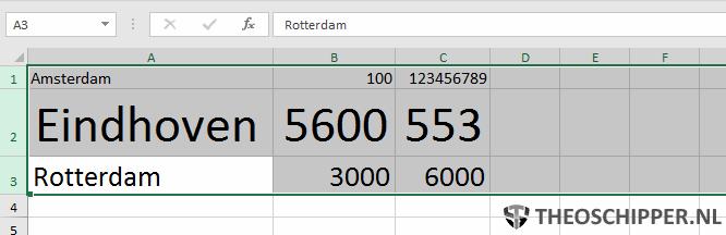 Autoaanpassen rijhoogte Excel