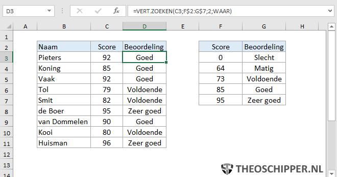 Excel Verticaal zoeken tip 11