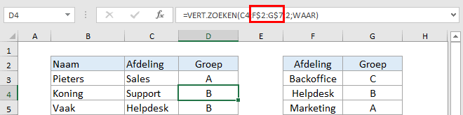 Excel verticaal zoeken tip 12
