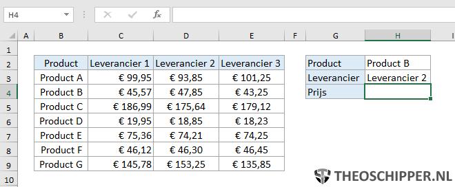 Excel verticaal zoeken tip 16