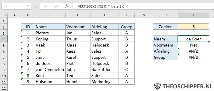 Excel verticaal zoeken tip 18