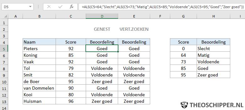 Excel verticaal zoeken tip 19